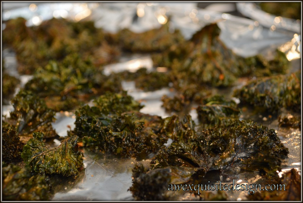 Close-up Of Baked Kale