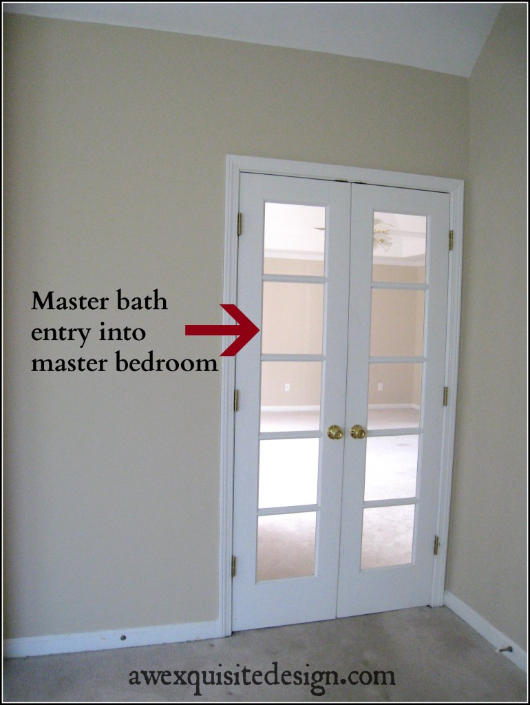 French Doors To Master Bath