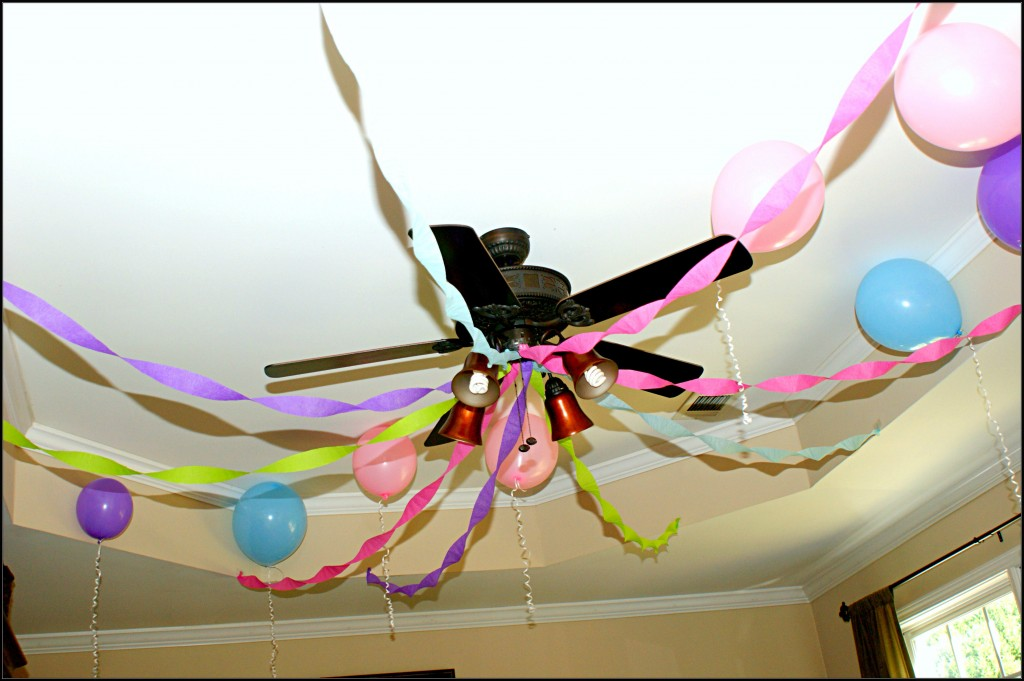 Crepe Streamers and Balloons
