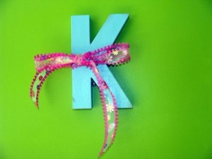 bright letter K
