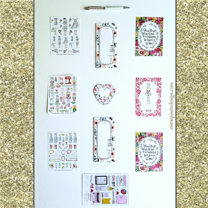 Planner Collage watermark Gold