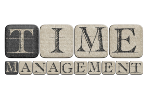 Time Management Words Stock Image