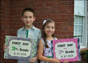 Close Up Of Kids 1st Day Of School 2015