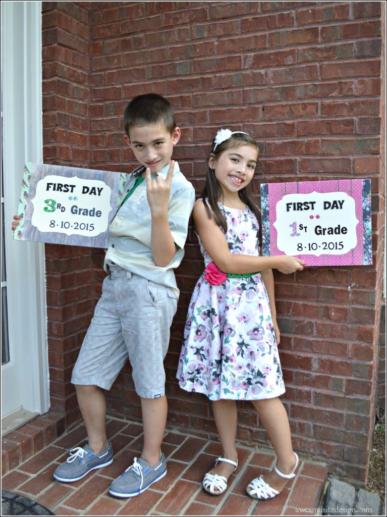 Picmonkey Edit Both Kids 1st Day Signs