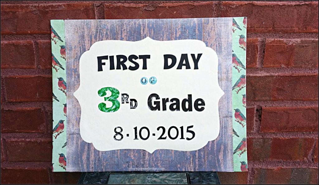 3rd Grade Sign